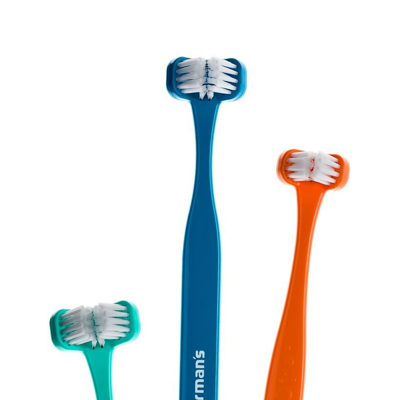 Superbrush in 3 sizes and colours. Orange, mint , petroleum